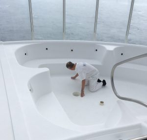 Hot tub repairs onboard a cruise ship