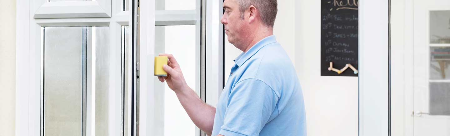 Repair to a damaged UPVC door