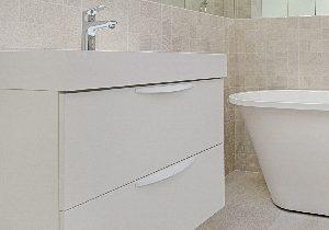 Laminate bathroom cupboard