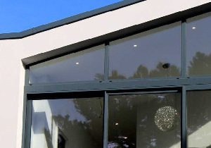 Powder coated window frame