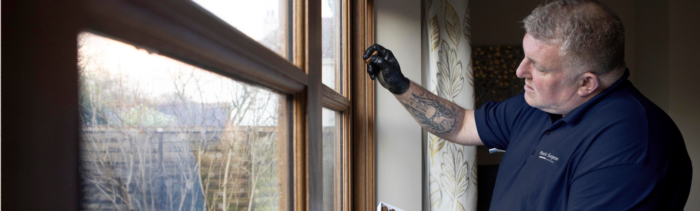 Repairing damage to a UPVC window frame