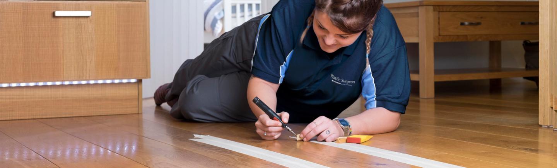 Wooden floor repair for insurance claim