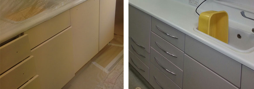 Cupboard door colour change