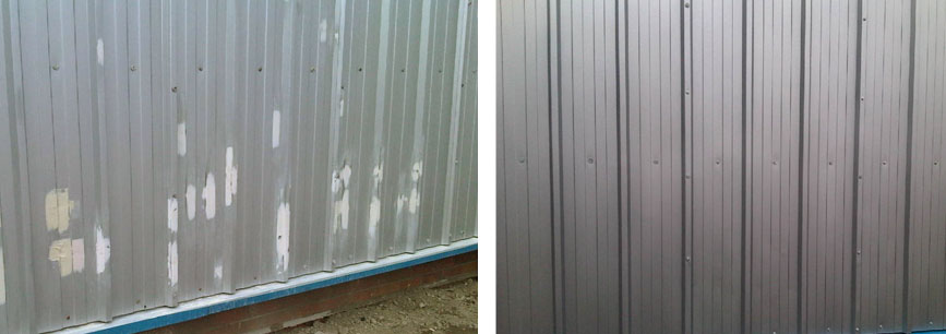 Metal cladding repaired for Mansell at retail park