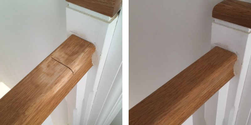 Repair to damaged bannister