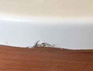 Chipped bath edge