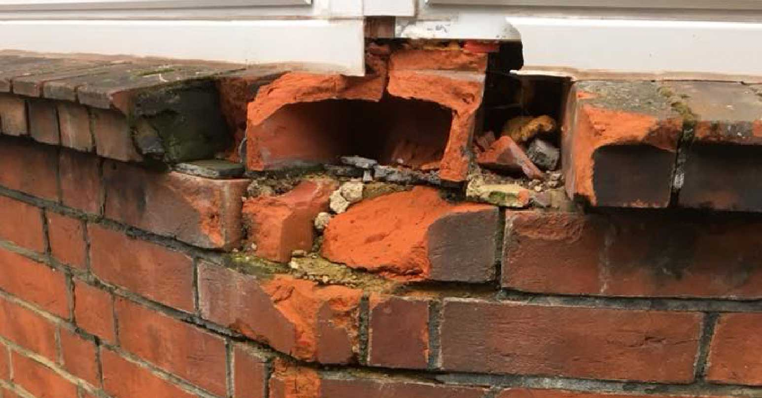 Damaged brick repairs
