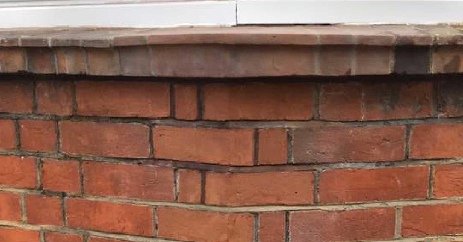 Damaged brick - After repair
