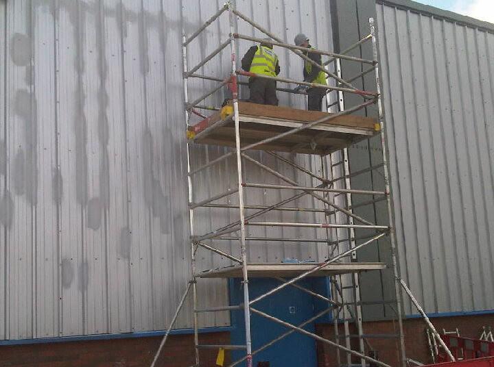Repairs to damaged metal cladding