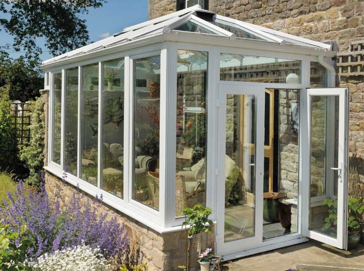 Repair to scratched conservatory glass