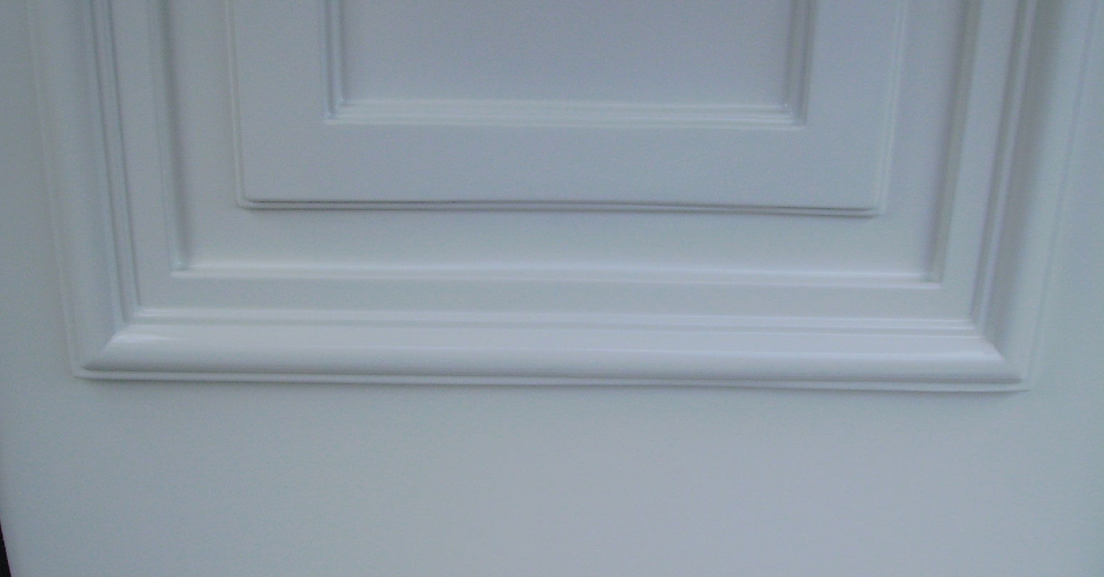 Cracked UPVC door - After repair