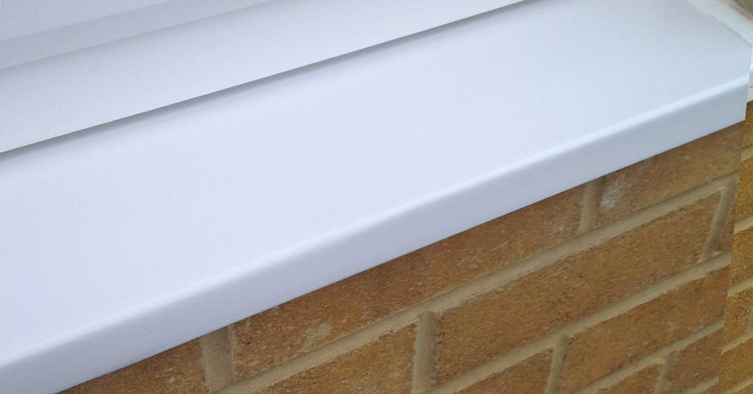 Repair to cracked UPVC sill
