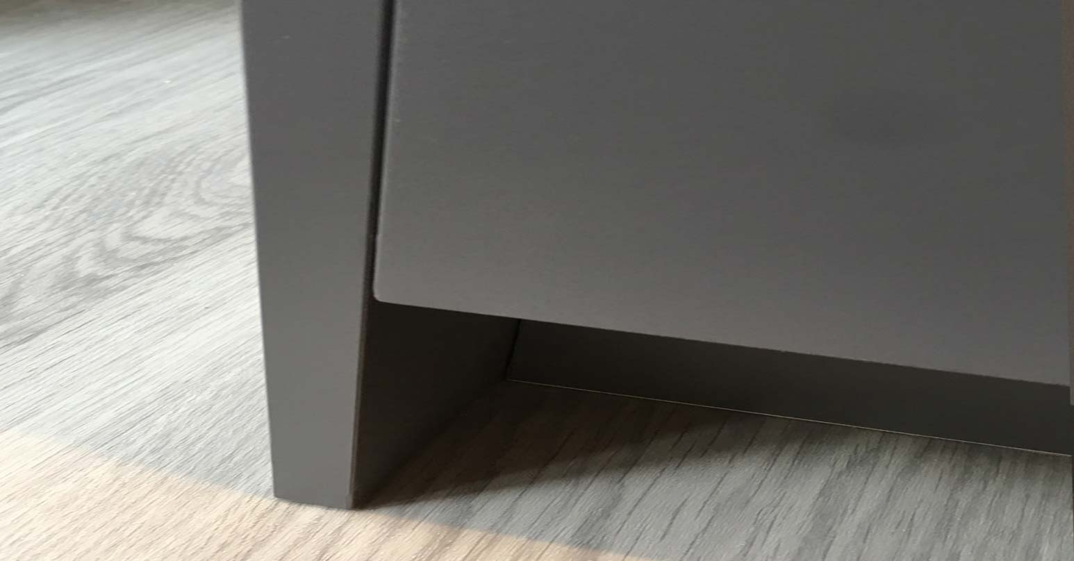 Cupboard dent - After repair