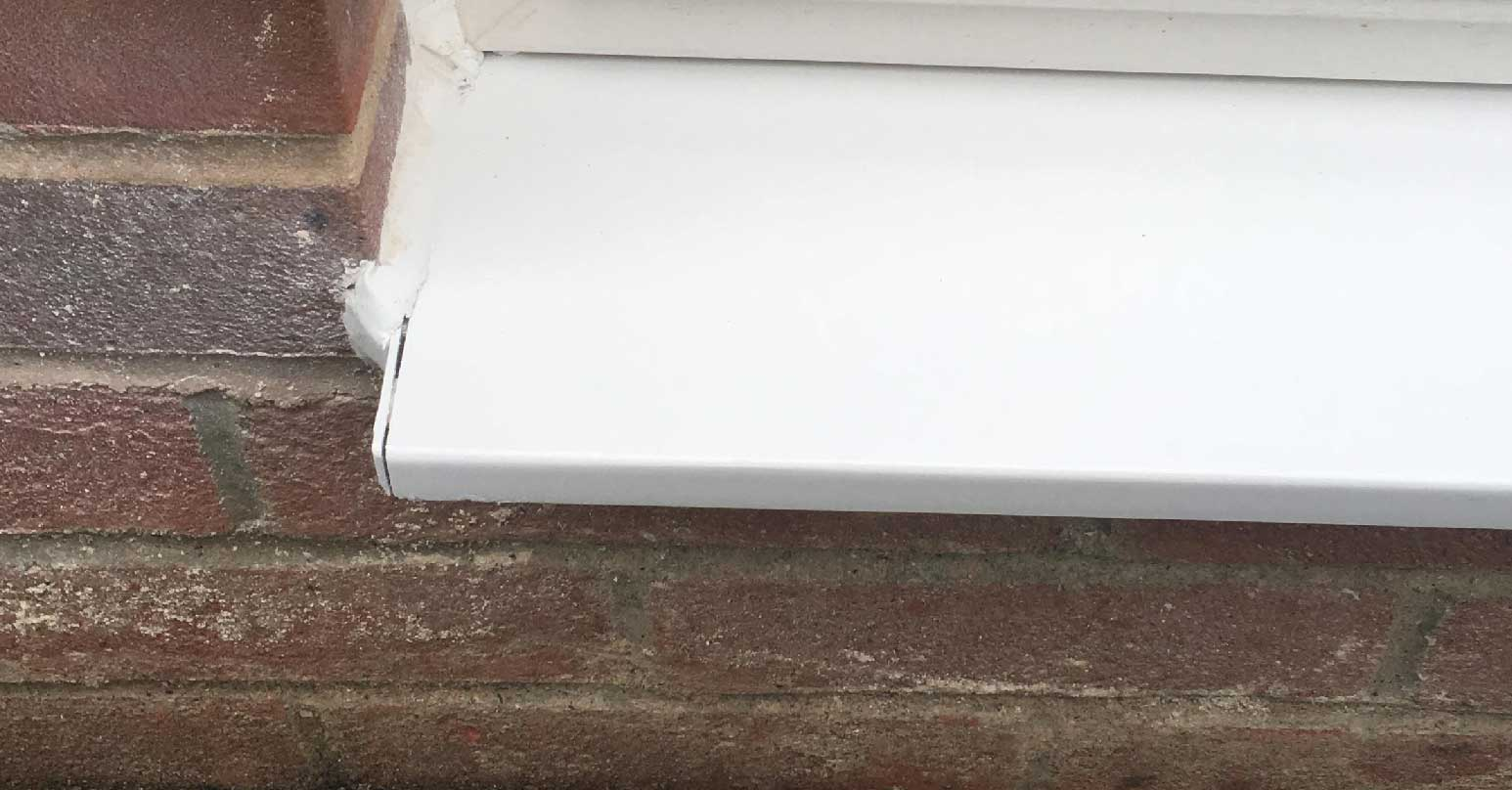 Repaired UPVC cill