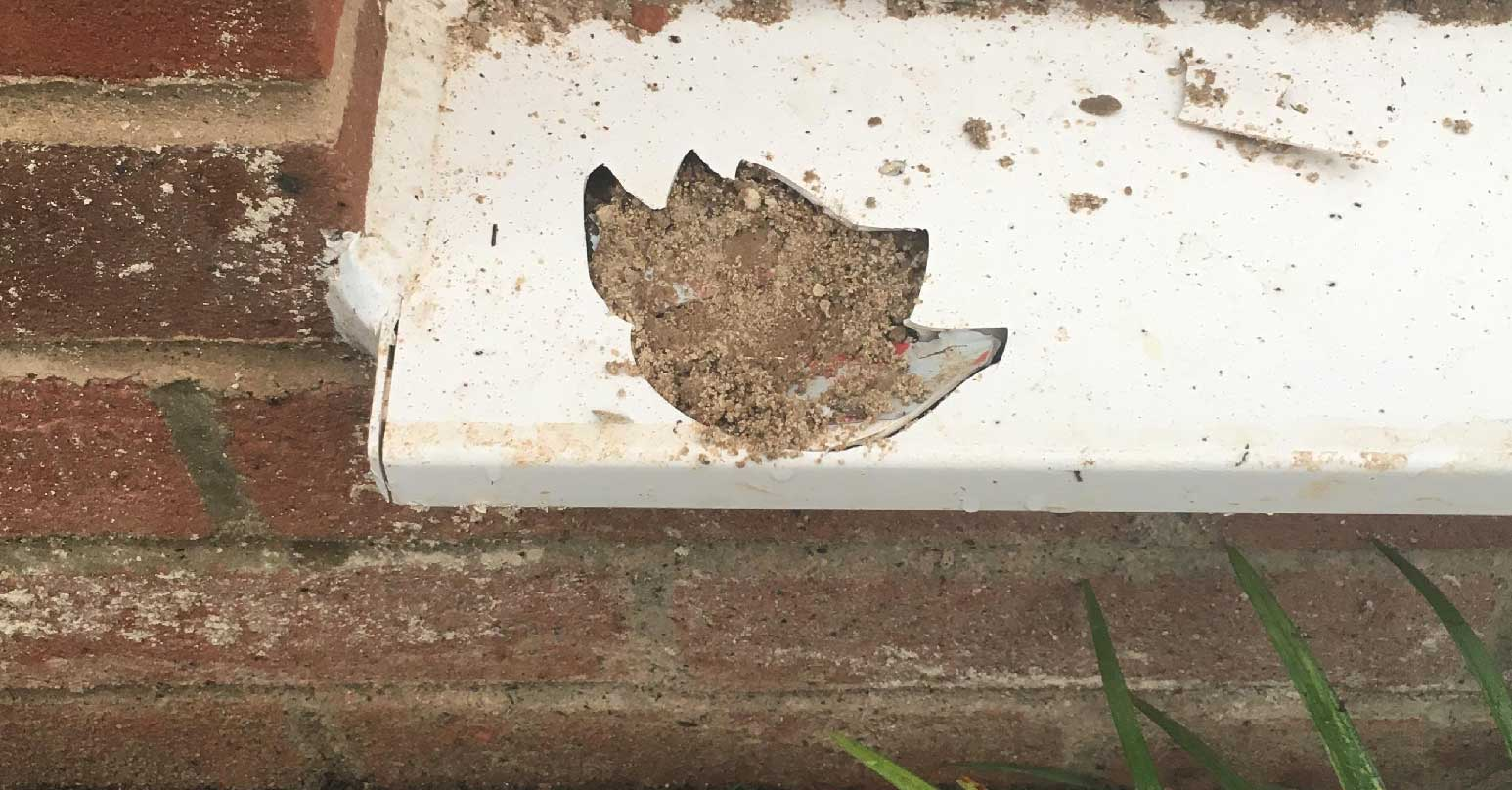 Damaged UPVC cill