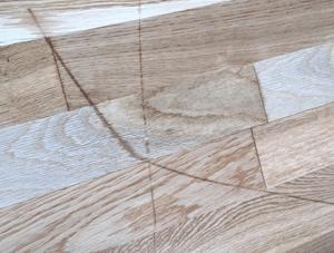 Damaged wood flooring