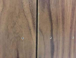 Holes in laminate door