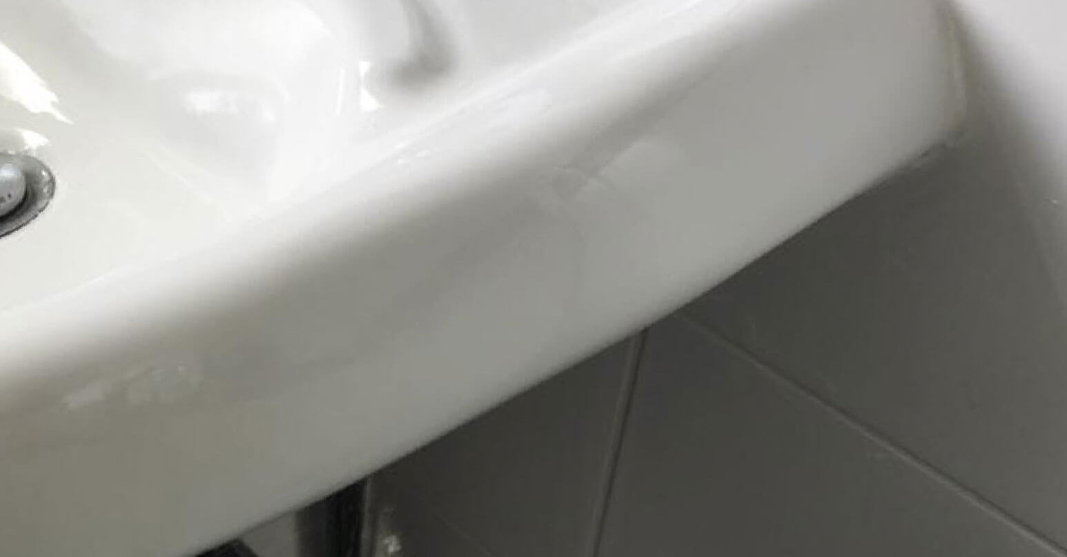 Repair to large hole in sink