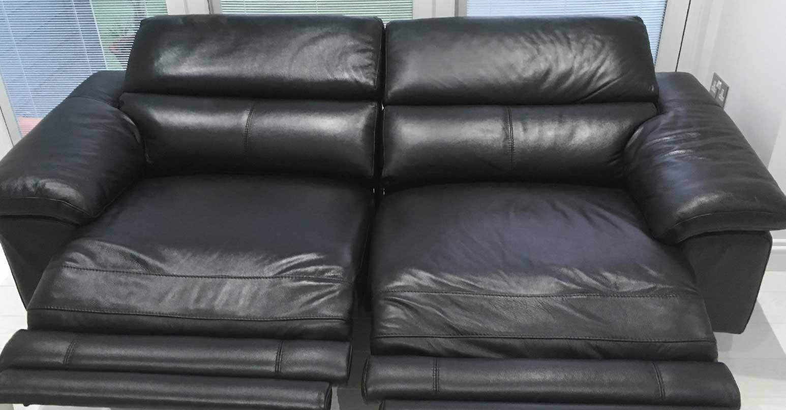 Leather sofa - After recolour