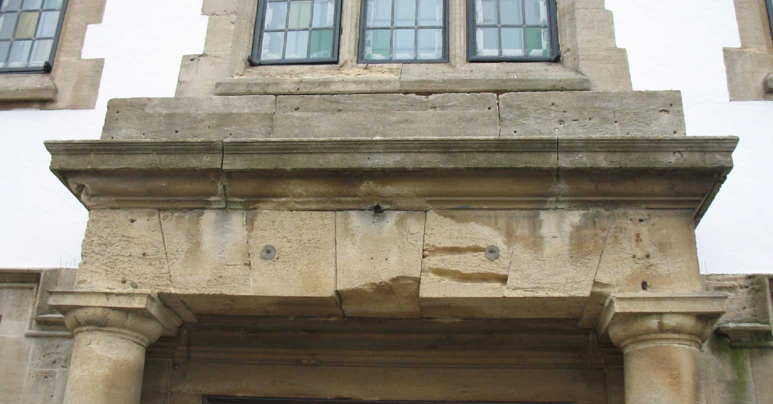 Repair to the exterior of a stone building
