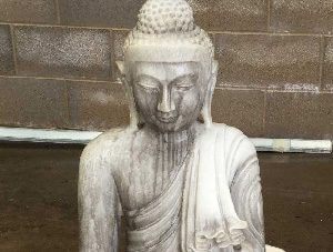 Stained Budda statue
