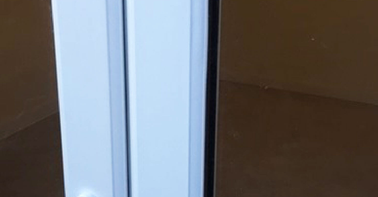 Large chip to upvc door - After repair