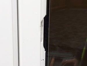 Chipped UPVC door