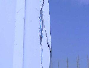 Cracked uPVC window frame