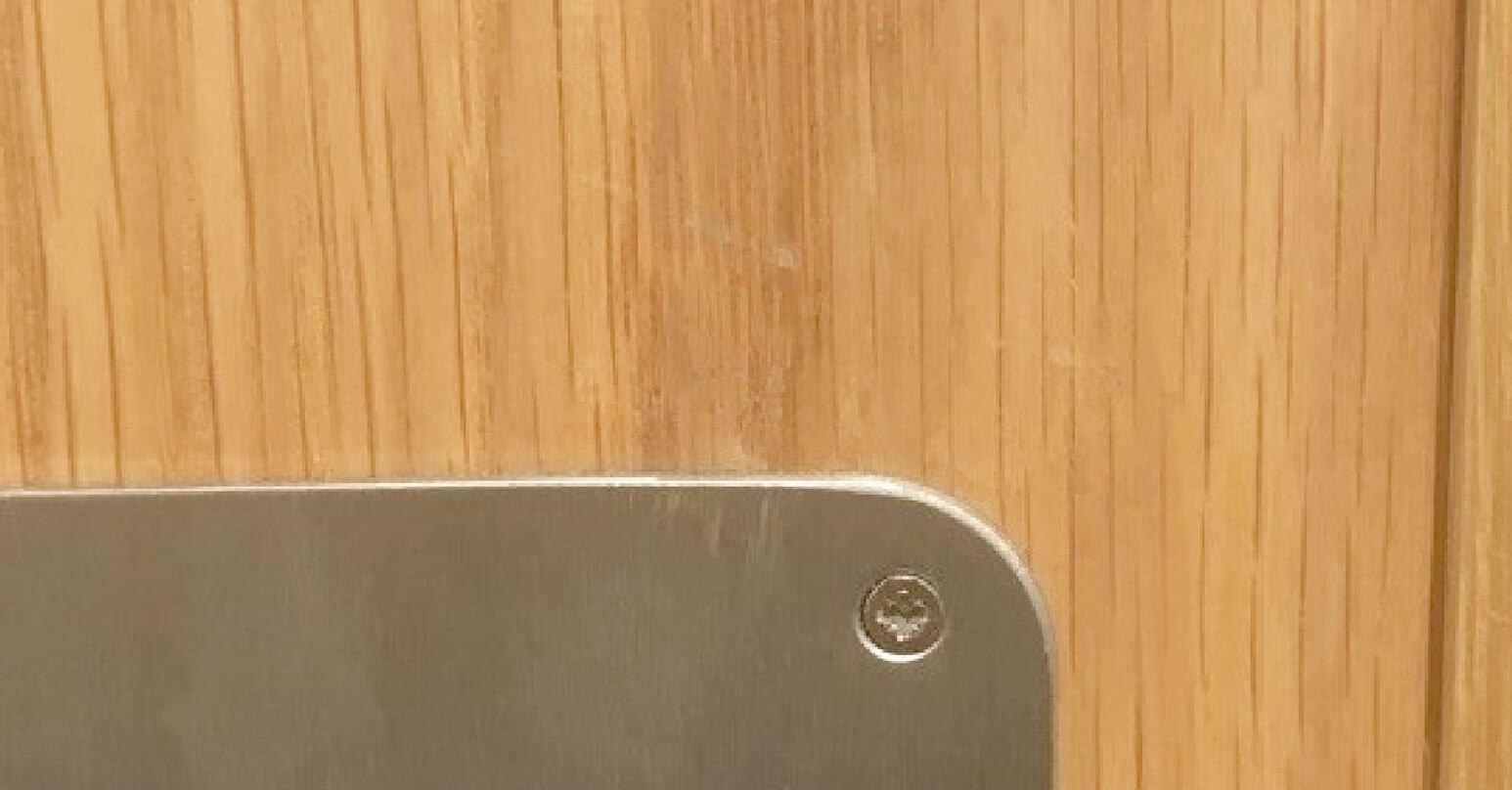 Repair to scratched door