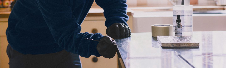 Repair to corian worktop