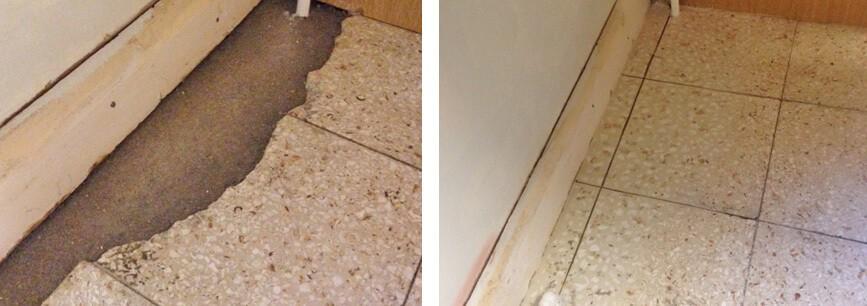 Chipped tile repair
