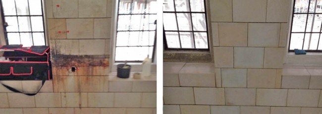 Glazed brick and tile restoration