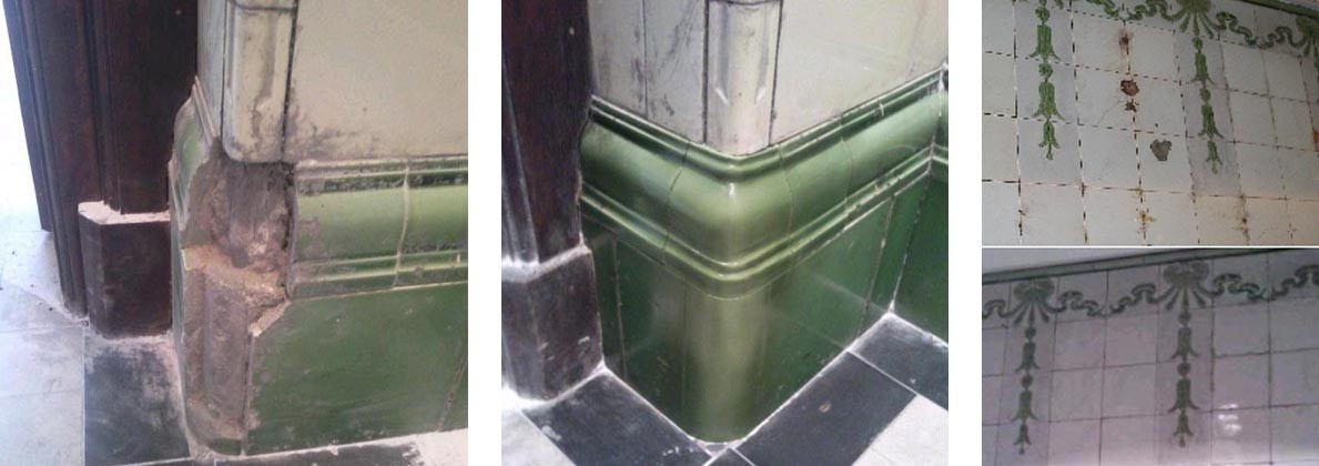 Victorian ceramic tile repair and restoration