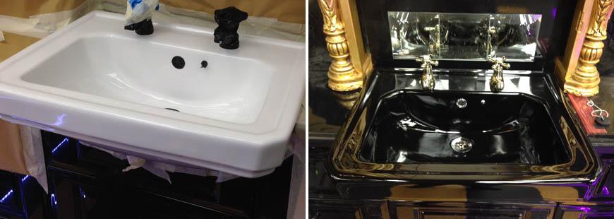 Recolour bathroom sink
