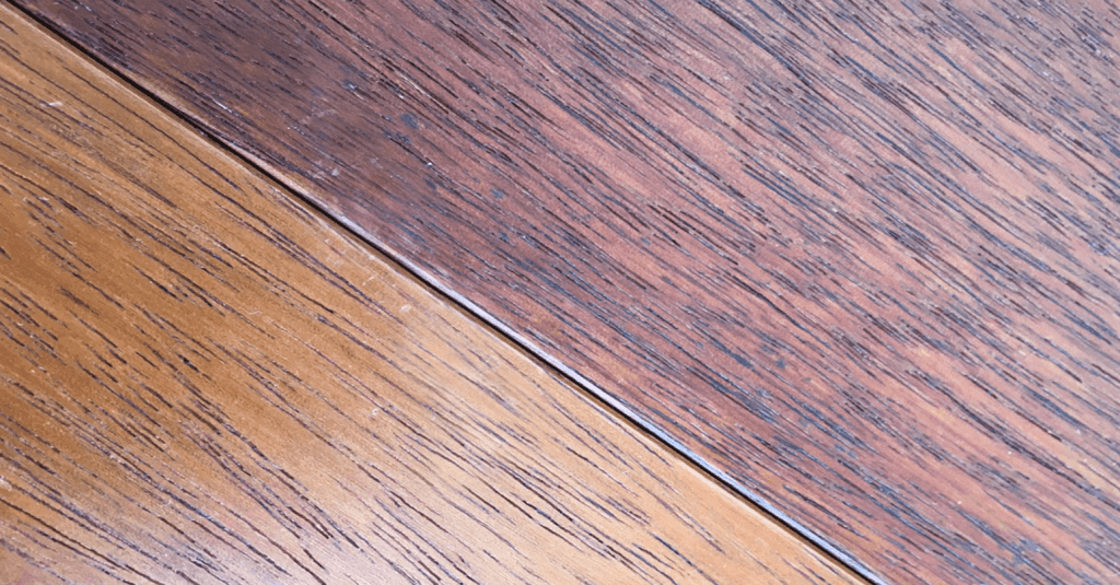 Scratched wooden floor - After repair