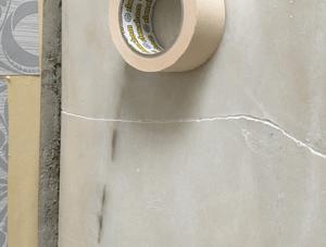 Cracked marble worktop