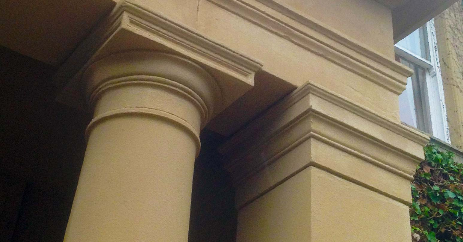Repair to damaged pillars