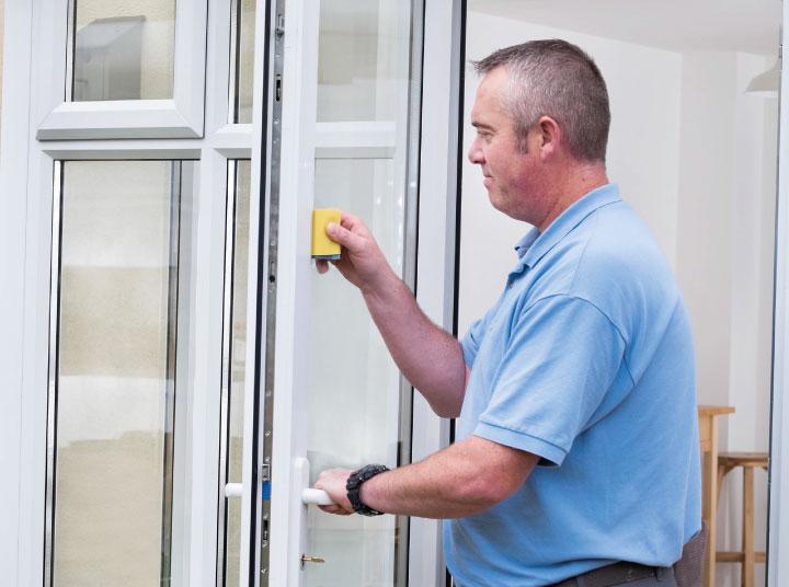 Repair to damaged door