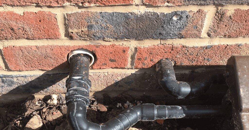 Brick hole - After repair