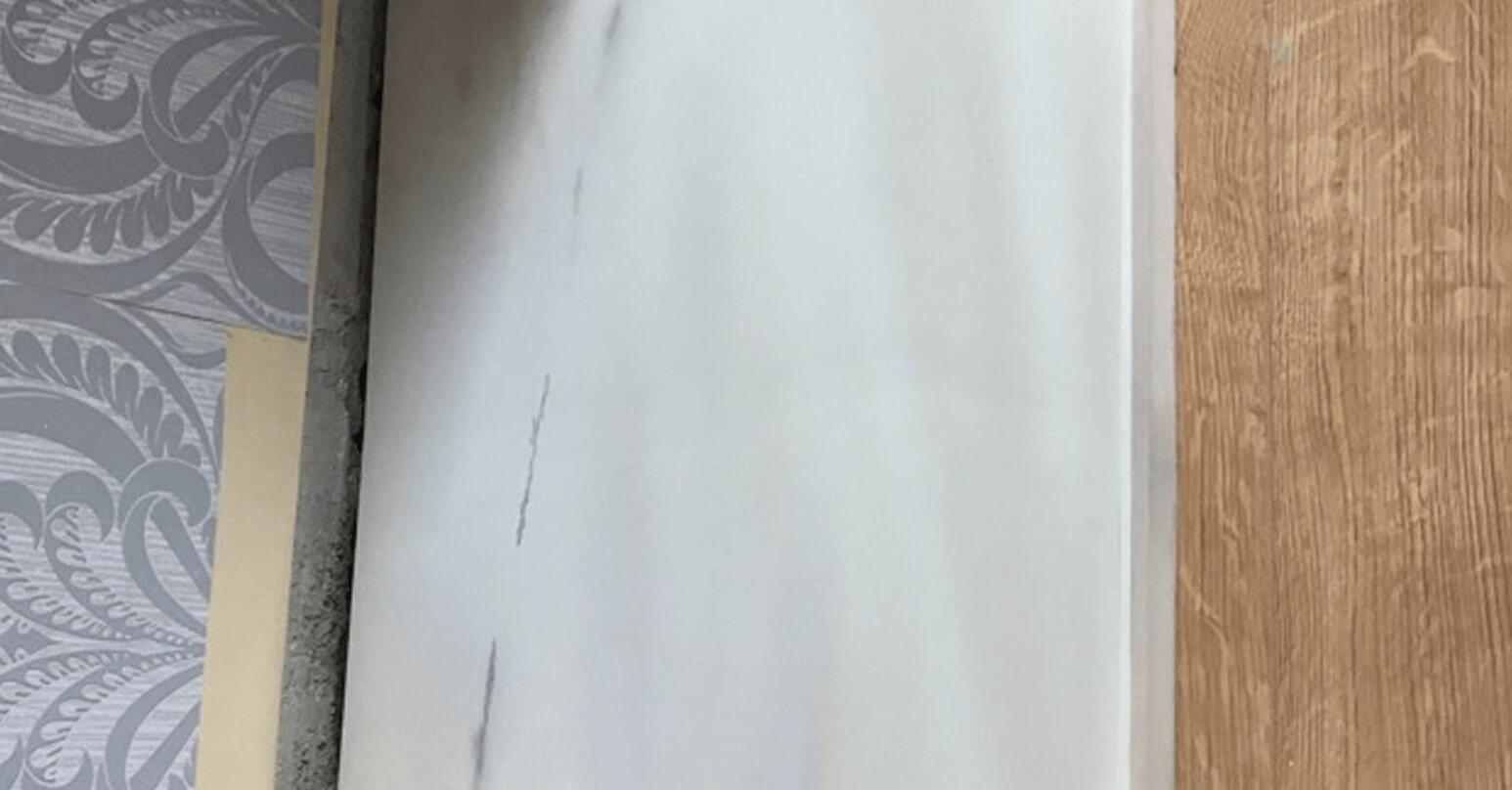 Cracked marble worktop - After repair