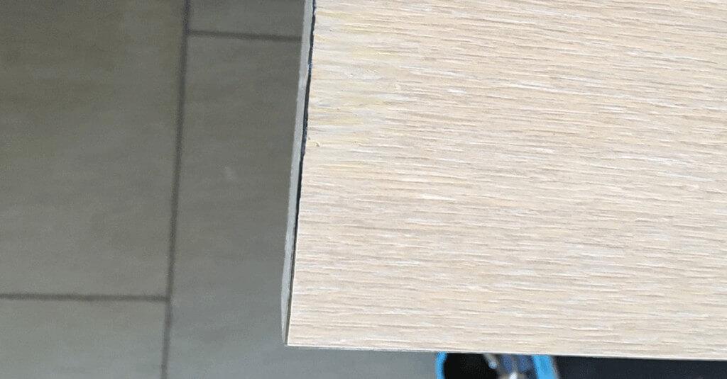Cracked veneer table - After repair