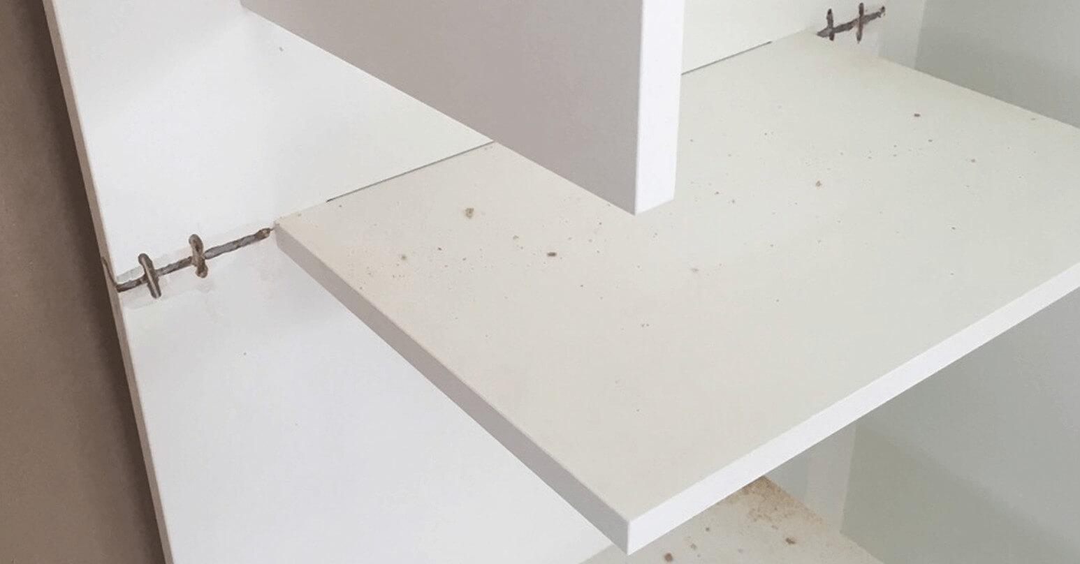 Damaged cabinet - Before repair