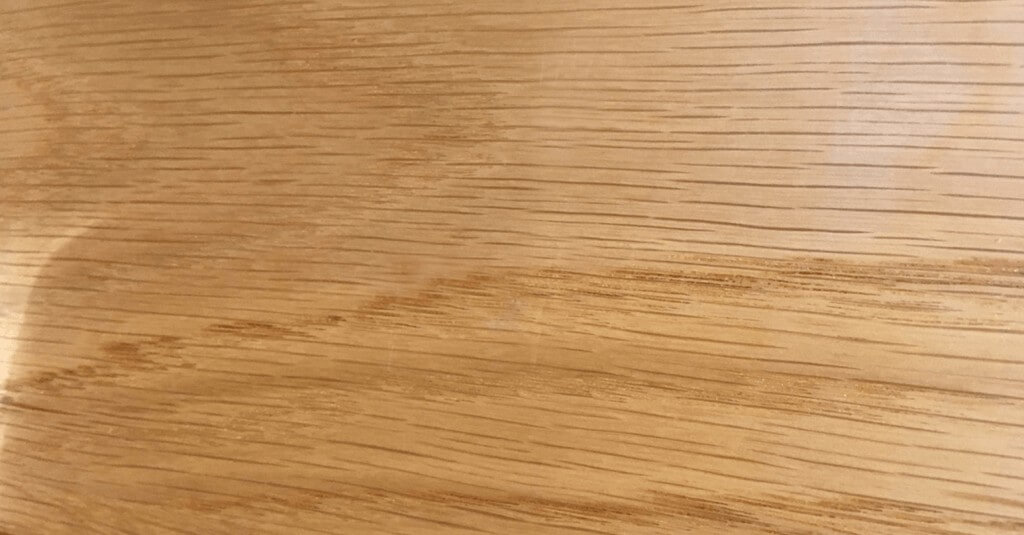 Scratched wood - After repair