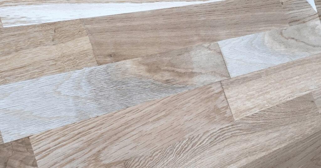 Scratched wooden floor - After repair