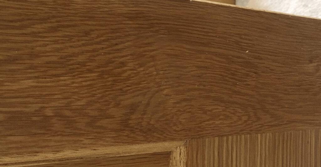 Holes in wood door - After repair